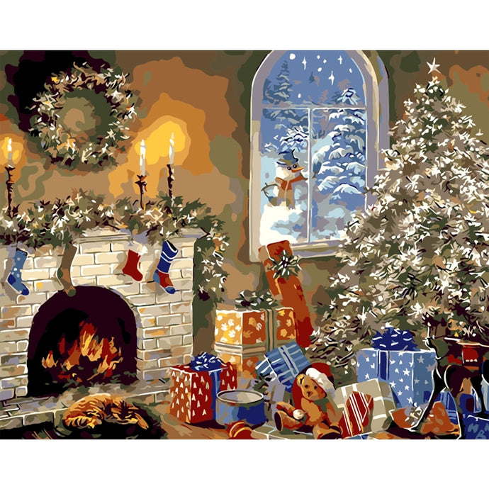Christmas Gifts - Painting by Numbers
