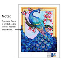 Load image into Gallery viewer, Peacock and Flowers