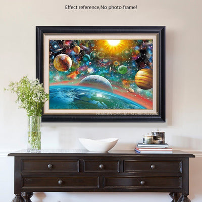 Solar System Paint with Diamonds