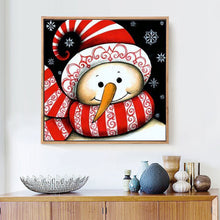 Load image into Gallery viewer, Snowman Cartoon Diamond Square Painting