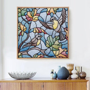 Stained Glass Birds Diamond Painting