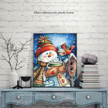Load image into Gallery viewer, Snowman Diamond Art
