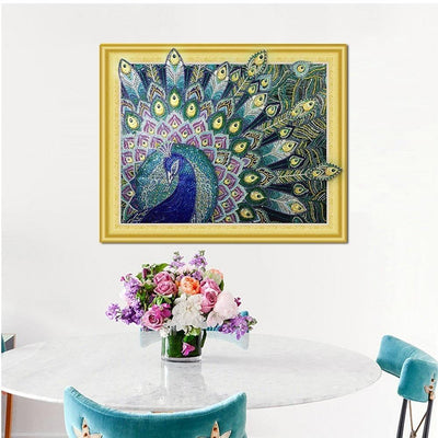Peacock Special Diamond Art Kit for Adults
