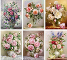 Load image into Gallery viewer, Flowers Diamond by Numbers