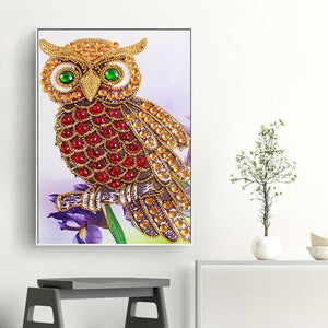 Owl - Special Shaped Diamond Painting Kit