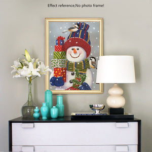 Snowman with Gifts Diamond Art