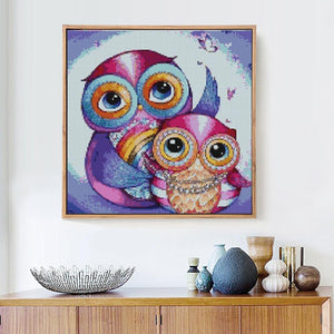 DIY Cartoon Owl Painting