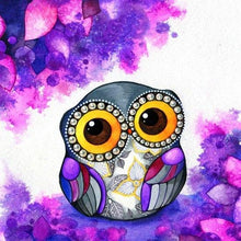 Load image into Gallery viewer, DIY Cartoon Owl Painting