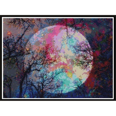 Colorful Full Moon