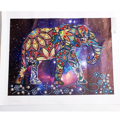 Paint Elephant with Special Shaped Diamonds