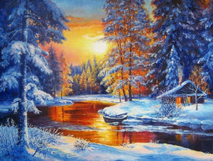 Winter Sunset Diamond Paint Kit