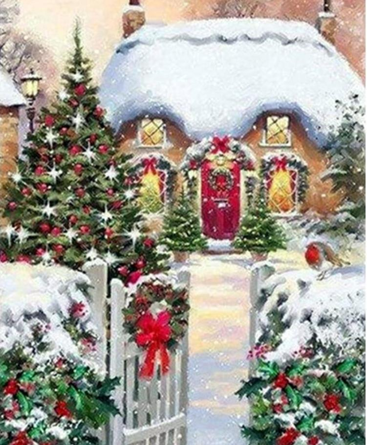 Xmas diamond painting