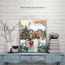 Load image into Gallery viewer, Square Rhinestone Painting - Christmas House