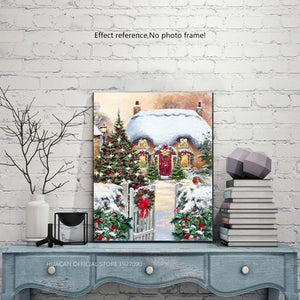Square Rhinestone Painting - Christmas House