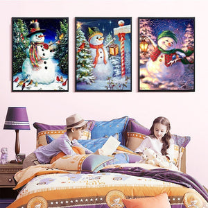 Collection of Snowman Xmas Diamond Paintings