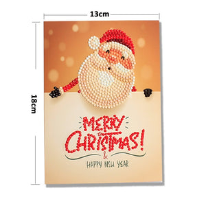 Christmas Greeting Post Cards with Diamond Painting - Great Idea