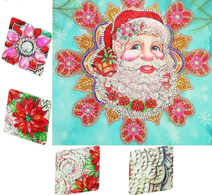 Round Diamond Santa Christmas Painting Kit
