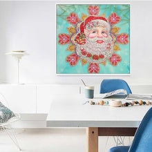 Load image into Gallery viewer, Round Diamond Santa Christmas Painting Kit