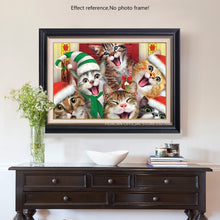 Load image into Gallery viewer, Happy Cats Christmas Diamond Embroidery Kit