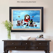 Load image into Gallery viewer, Santa With Animals - Painting with Diamonds