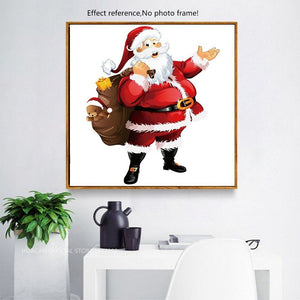 Santa with Presents Cartoon Diamond Kit