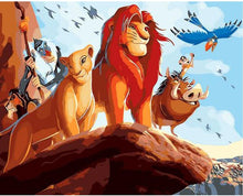 Load image into Gallery viewer, The Lion King Cartoon - Paint by Number