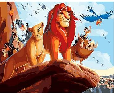 The Lion King Cartoon - Paint by Number