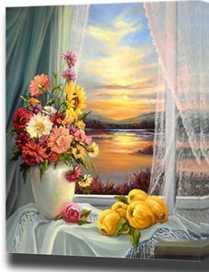Colorful Lovely Flowers Painting - paint by number