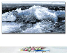Load image into Gallery viewer, Turbulent Waves - Paint by numbers