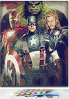 Super Heroes - Paint by Numbers for adults