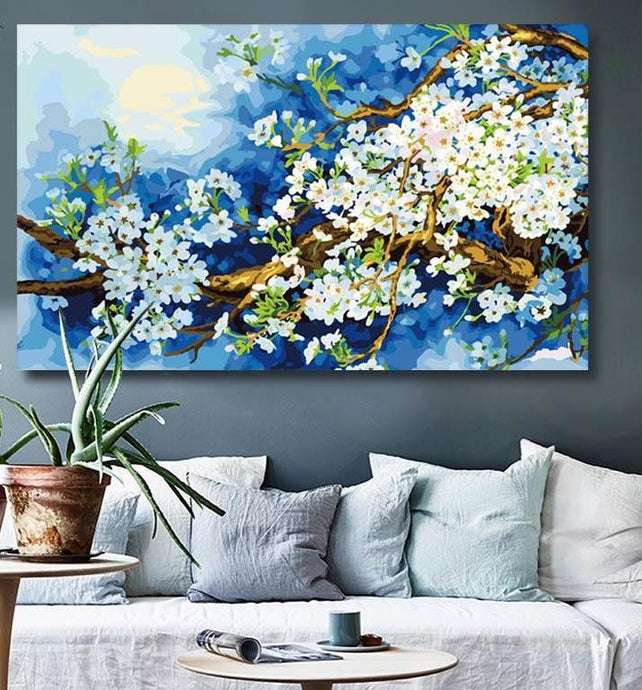 Beautiful Blossoming Flowers - Paint by Numbers