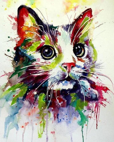 Artistic Cat Diamond Painting Kit