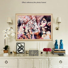 Load image into Gallery viewer, Tiger & the Beauty Diamond Art