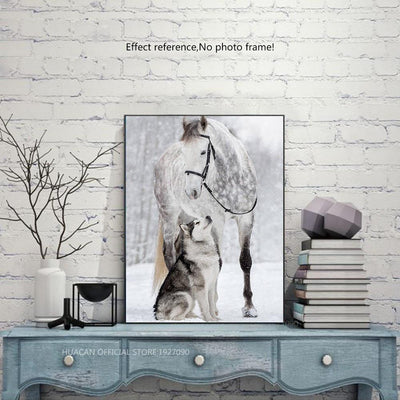 Horse & Wold in Winter