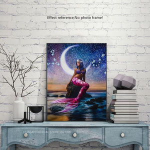 Beautiful Mermaid Paint with Diamonds Art Kit