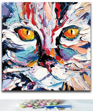 Load image into Gallery viewer, Huge Colorful Cat - Painting by numbers