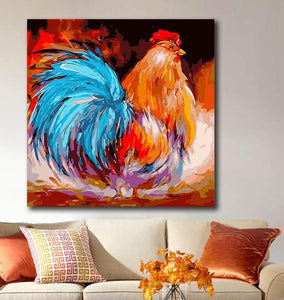 Vibrant Colors Cock Painting Kit