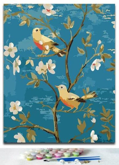 Birds and flowers Painting for Home Decor