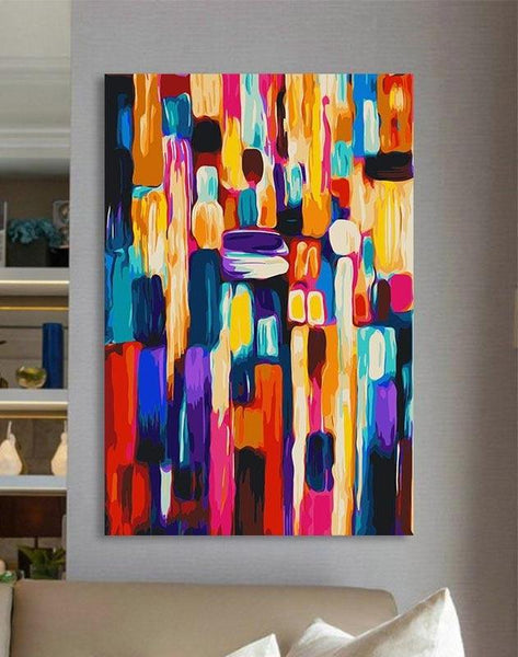 Different abstract Colorful Paintings for Home Decor - paint by number kits