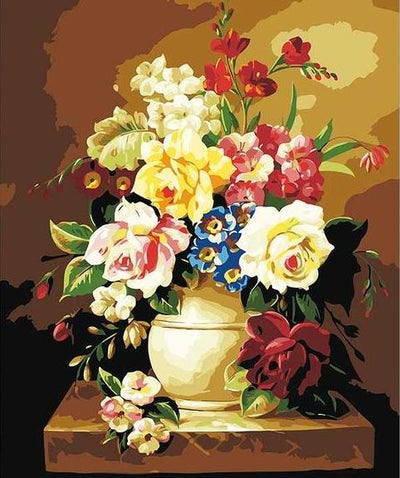 Large Paint by Numbers - Flowers