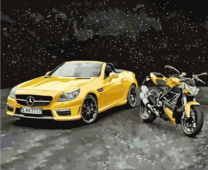 Sports Cars & Motorcycle - 5 Painting Kits