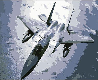 fighter jet painting by numbers