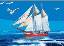 Load image into Gallery viewer, sail boat paint by numbers