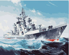 Load image into Gallery viewer, warship paint by numbers