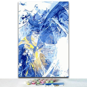 Abstract Paint by Numbers - Large Sizes Available