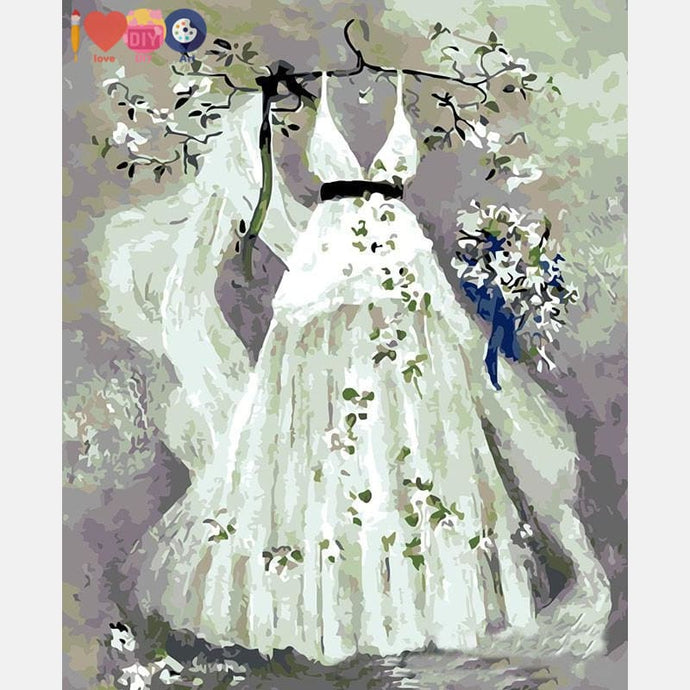 Wedding Dress Painting Diy - Easy Painting