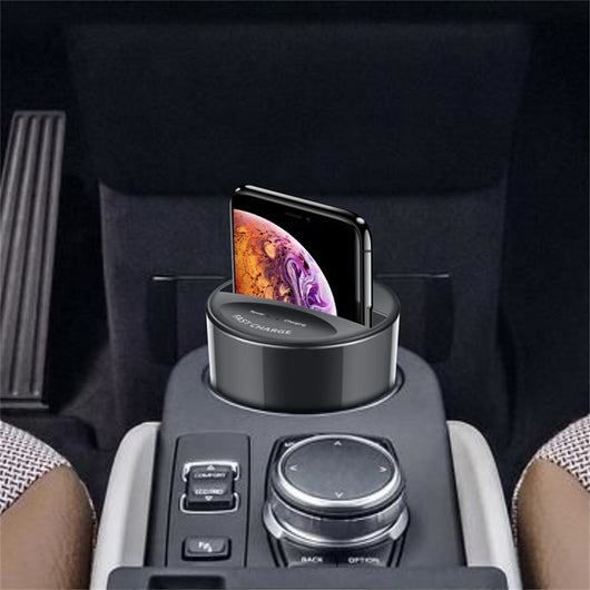 Car Wireless Fast Charger Cup with USB Output