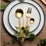Gold Stainless Steel Silverware Set