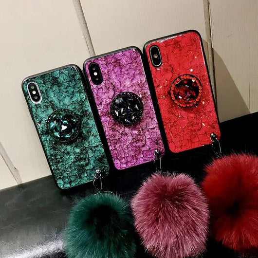 Fur Ball Diamond Case for iPhone