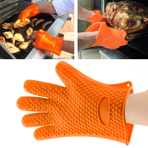 Heat Resistant Silicone Glove - Barbecue Gloves